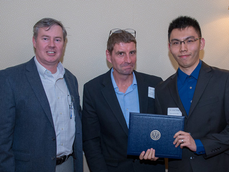 Drs. Libby, Yule and Wang with the Fenn Award