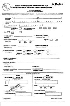Immigration form