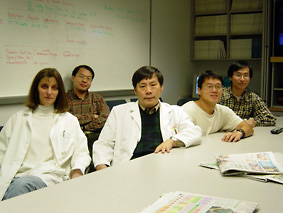 Dr. Chang and members in conference room
