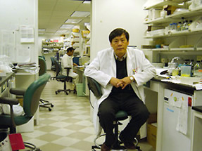 Dr. Chang in the lab