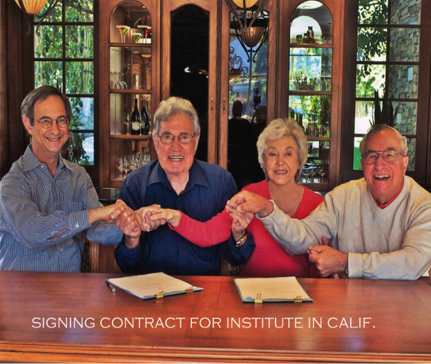 Signing Contract for Institute in Calif.
