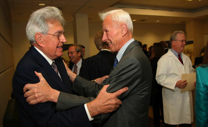 Ernie Del Monte and Bob Witmer, UR Board of Trustees Institute Dedication, May 2009
