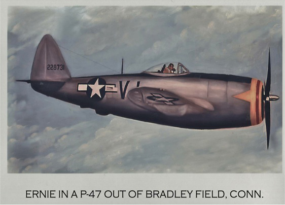 Ernie in a P-47 out of Bradley Field, Conn.