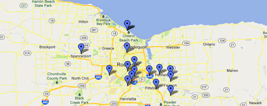 Strong Health Geriatrics Group - Map of Partner Nursing Homes and Senior Living Communities