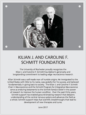 Photo of Killian and Caroline Schmitt Plaque