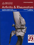 Featured on the cover of Arthritis and Rheumatism, October 2008