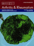 Featured on the cover of Arthritis and Rheumatism, September 2009