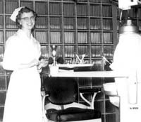 Dental Hygienist, Elain Berean, in uniform