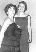 Students Gwen Houssian and Diane Blixt, dressed up for the annual dance