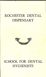 Outline of Courses School for Dental Hygienists 1933