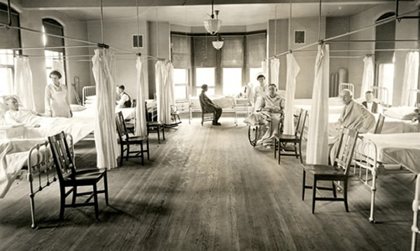 Highland Hospital men's ward 1906