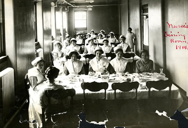 Nurses' dining room 1914