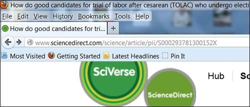 Stable URL for full-text journal article