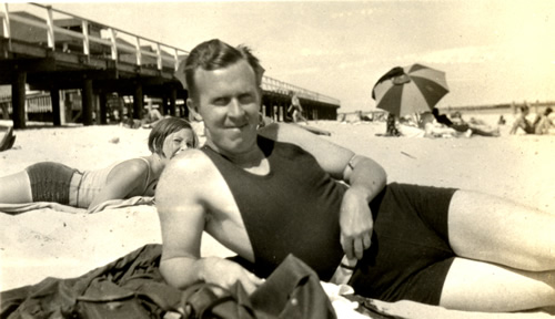 James Hervi Sterner at the Jersey Shore in 1931