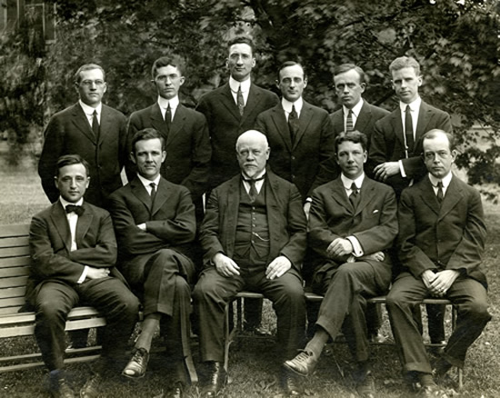 George H. Whipple (group photo), 1914