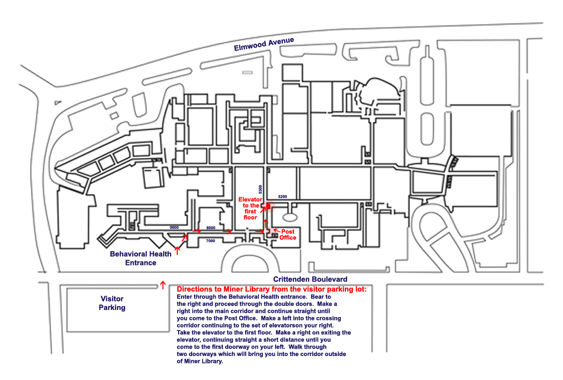 Image depicting ground floor map for Strong Memorial Hospital
