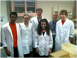Students visiting the lab
