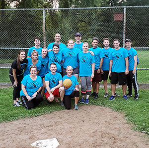 Members of the Aller'Gs Kickball Team