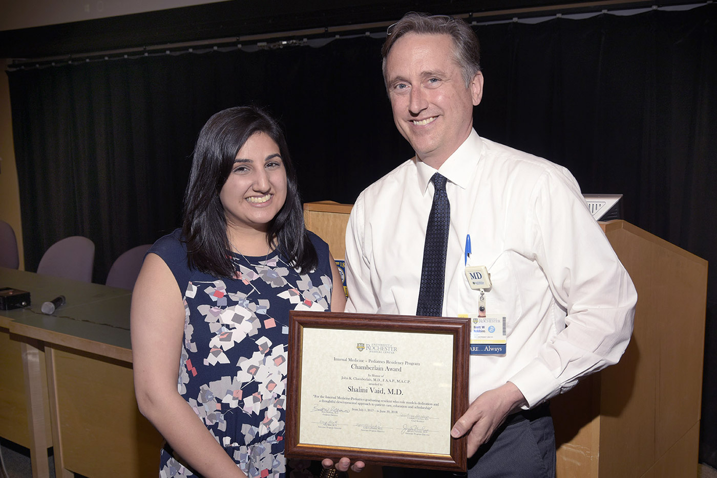 Shalini Vaid, MD and Brett Robbins, MD