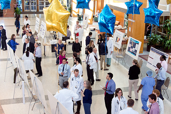 Poster Day presentations were held in the Flaum Atrium