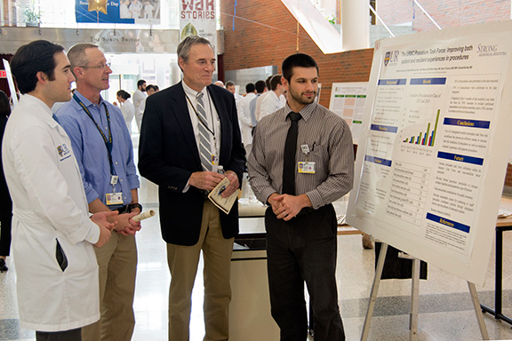 Pictured (L-R): Brian McNichols, MD; Alec O'Connor, MD; Paul Levy, MD; and Matthew Gorgone, DO