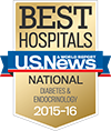 Best National Hospitals, U.S. News & World Report: Diabetes & Endocrinology 2015-16