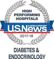 US News & World Reports High Performing Hospitals: Diabetes & Endocrinology 2017-18