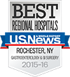 Best Regional Hospitals, U.S. News & World Report: Gastroenterology & GI Surgery 2015-16