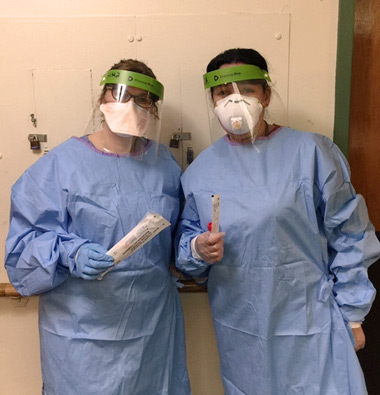 Medical staff wearing PPE