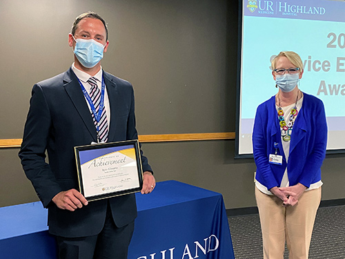 Ryan Gilmartin, MHA (left) and Cindy Becker, RN, MS, MBA, Highland Hospital Vice President & COO (right)