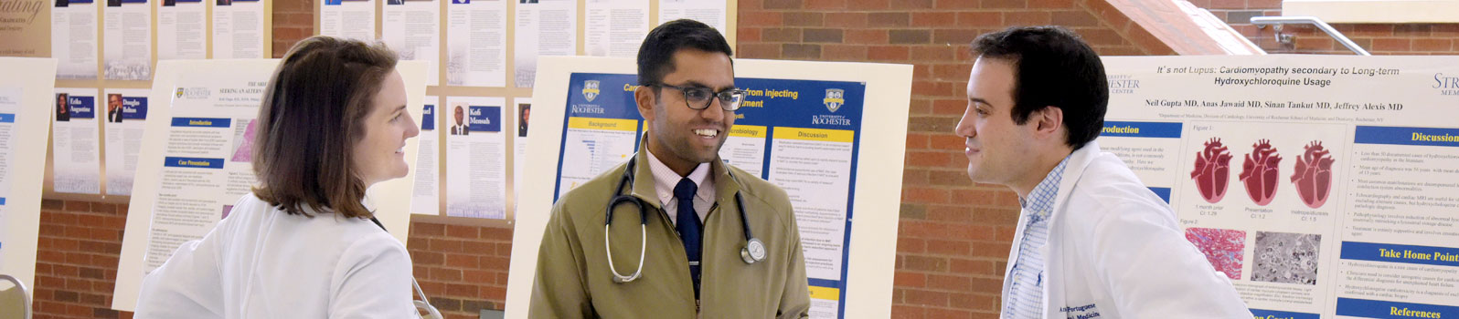 Residents discuss their latest clinical endeavors at Resident Poster Day
