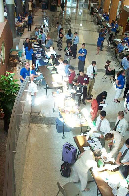 2007 DSH - Photo of event in Flaum Atrium taken from balcony