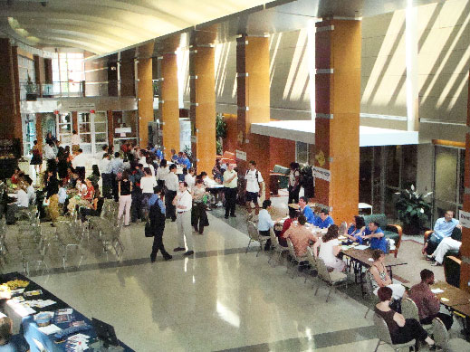 2007 DSH - photo of people attending in Flaum Atrium