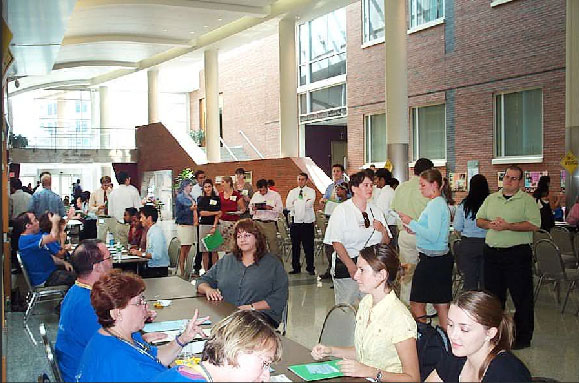 2007 DSH - photo of flaum atrium filled with people
