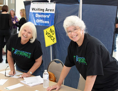 DSH 2015 - waiting area staff smiling