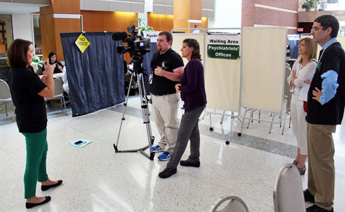 DSH 2015 - dsh staff being interviewed for the news