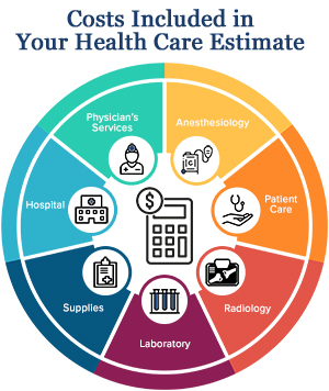 Your Health Care Estimate chart