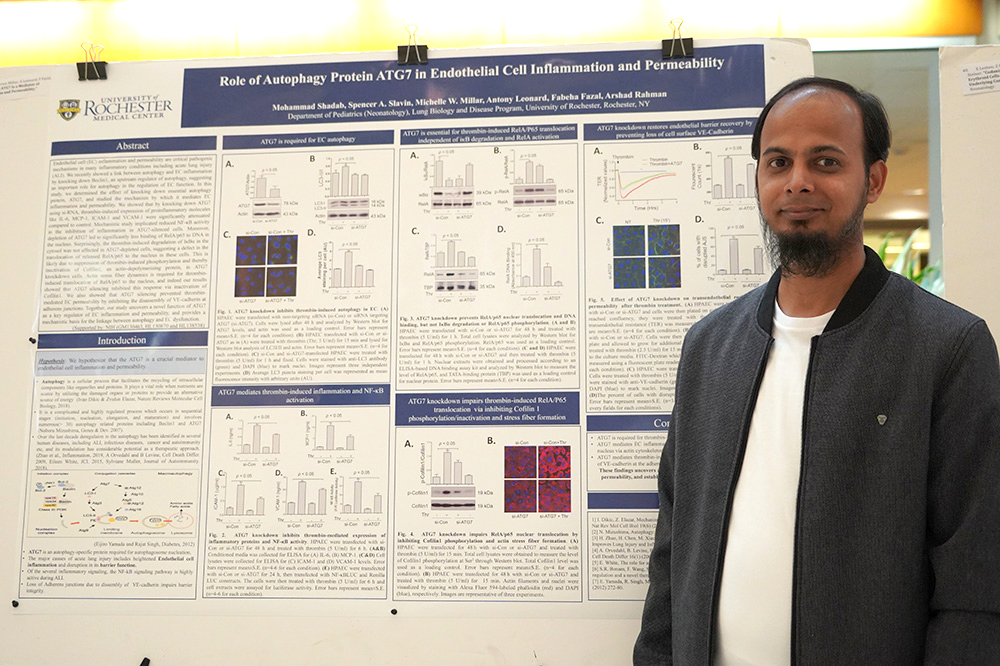 425 Best Poster by a Trainee: Mohammad Shadab, - Autophagy Protein ATG7 Is a Mediator of Endothelial Cell Inflammation and Permeability.