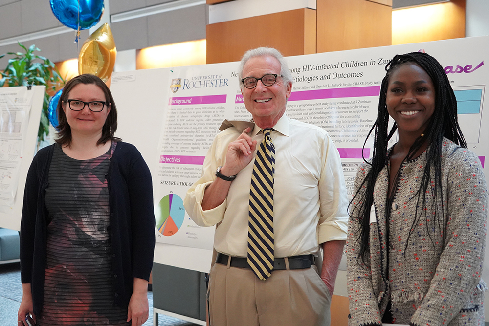 475 Forbes Lecture and Research Day 2019 - Robert Blum with poster presenters