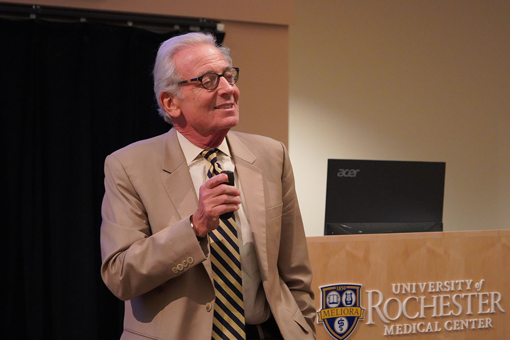 504 Gilbert B. Forbes Scholar: Robert M. Blum, delivering the lecture