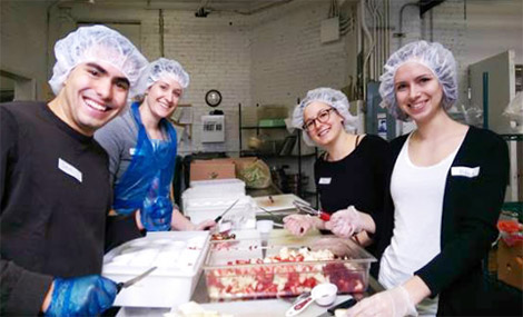 Asthma Team at St. Peter's Soup Kitchen - March 2015
