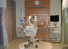 NICU patient room set-up for training