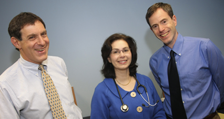 Steve Sulkes, M.D., Fellowship Director, Susan Hyman, M.D., Division Chief, Developmental and Behavioral Pediatrics, and Tristram Smith, Ph.D, Associate Director of Research