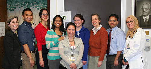 Pediatric Fellows with Chair, Nina Schor