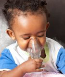 Baby Breathing with Inhaler