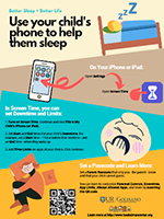 Use your child's phone to help them sleep