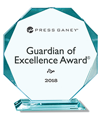 Press Ganey Guardian of Excellence Award 2018