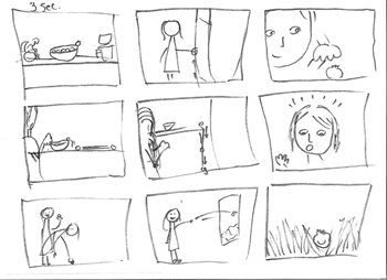 Pre-production storyboard image 2