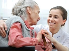 nursing home tender moment