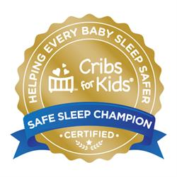 gold cribs for kids seal